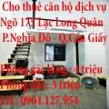 Cho thuê căn hộ dịch vụ ngõ 175 Lạc Long Quân Cầu Giấy Hà Nội